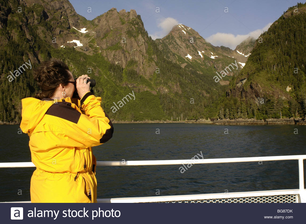Excursión al Parque Nacional de los fiordos de Kenai Imagen De Stock