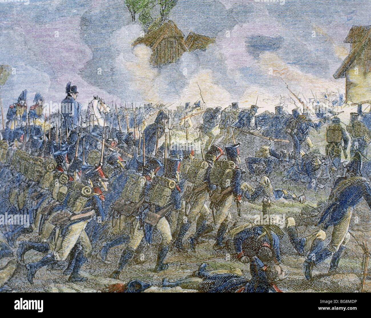 Las Guerras Napoleónicas (1796-1815). Batalla de la ROTHIERE (1814-02-01). Foto de stock