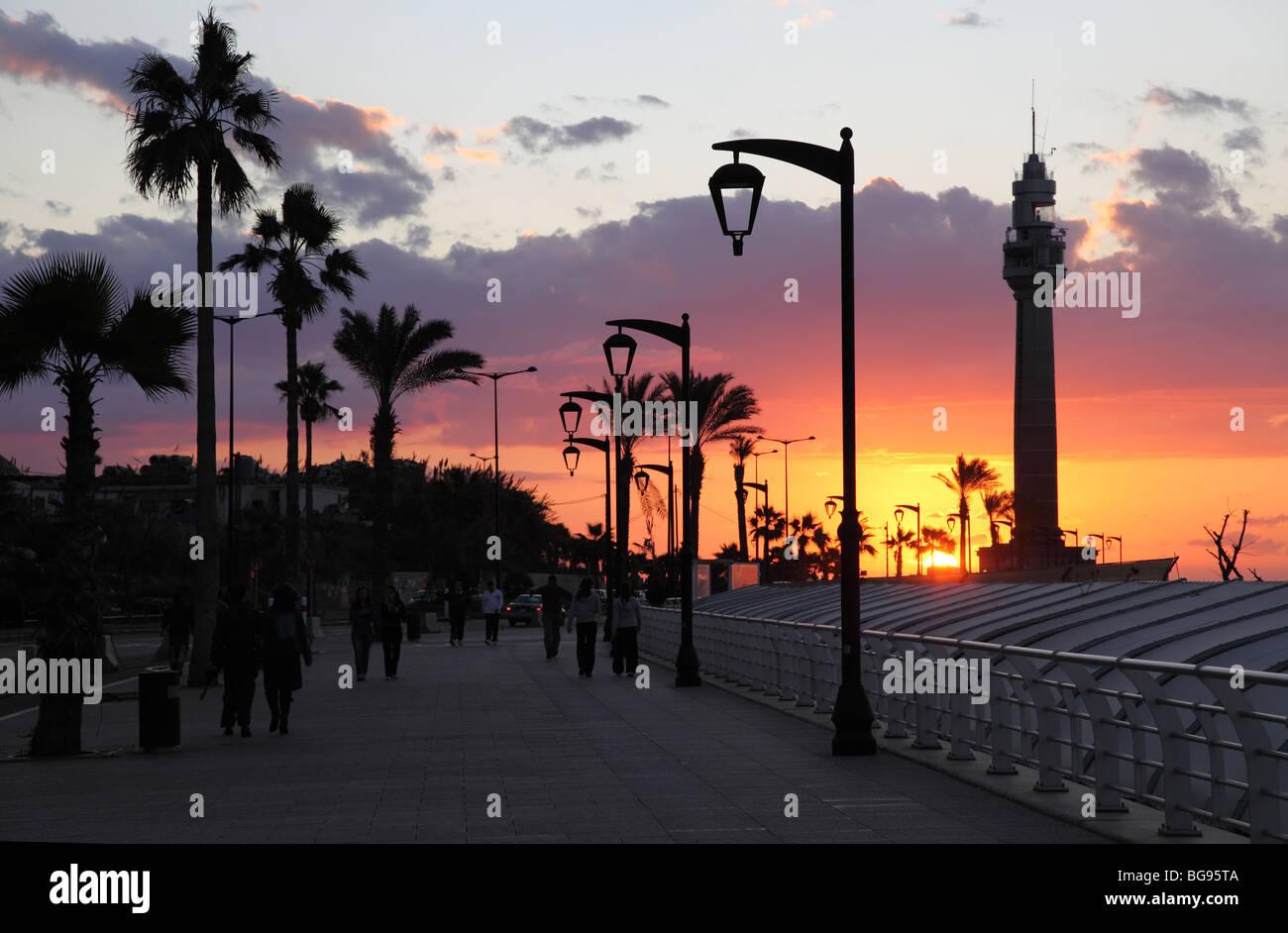 Corniche Beirut, Líbano árabe libanés Oriente Medio Imagen De Stock