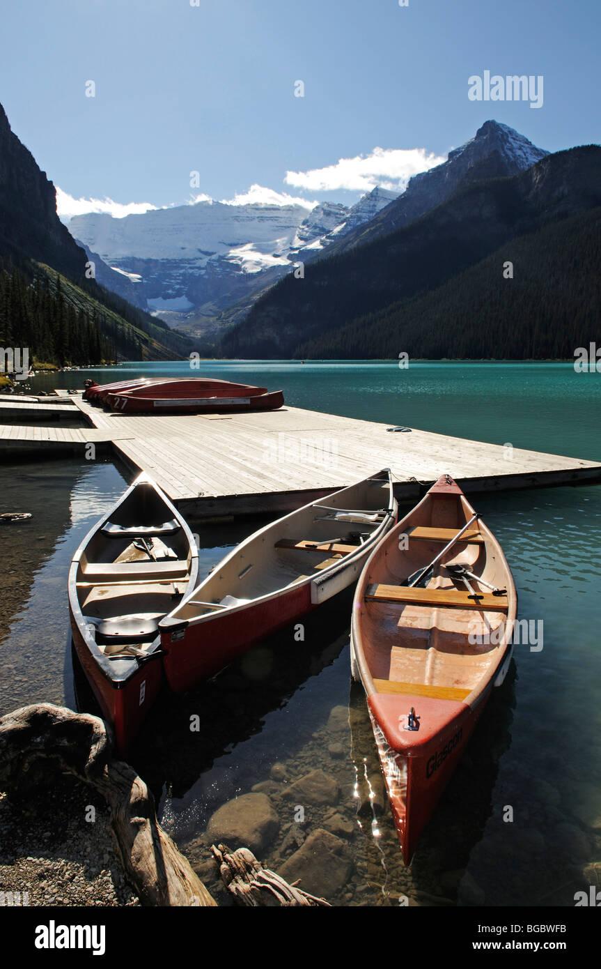 El lago Louise, el Parque Nacional de Banff, Alberta, Canadá Imagen De Stock
