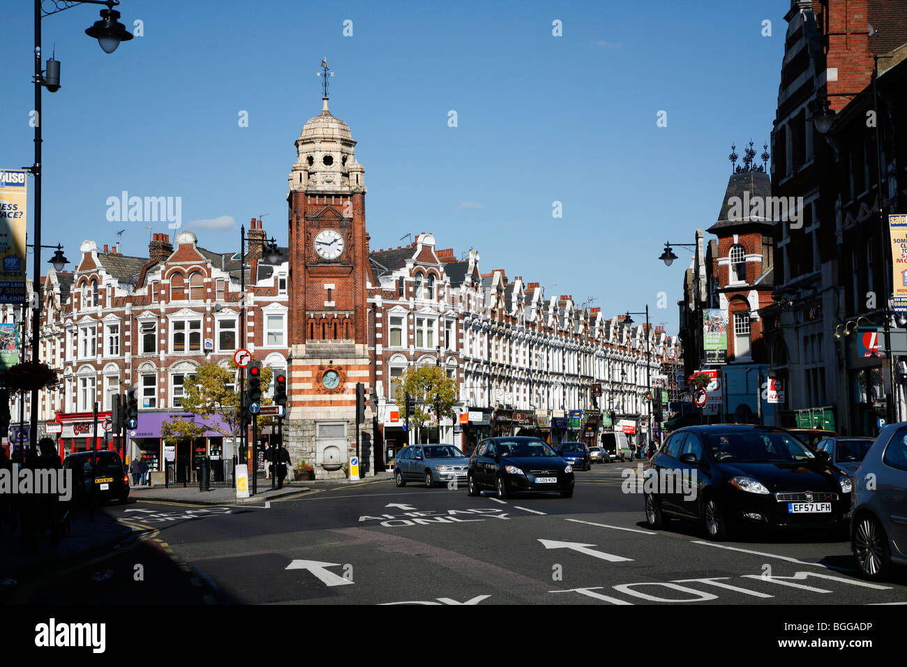 Clocktower en Broadway, Crouch End, Londres, Reino Unido. Imagen De Stock