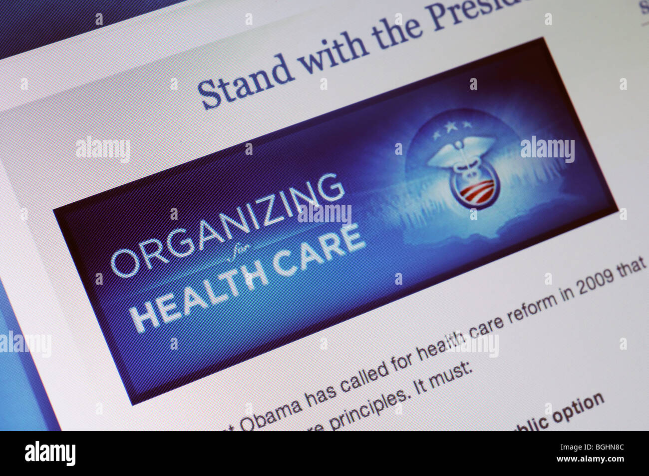 Sitio web de atención de la Salud de EE.UU. Imagen De Stock