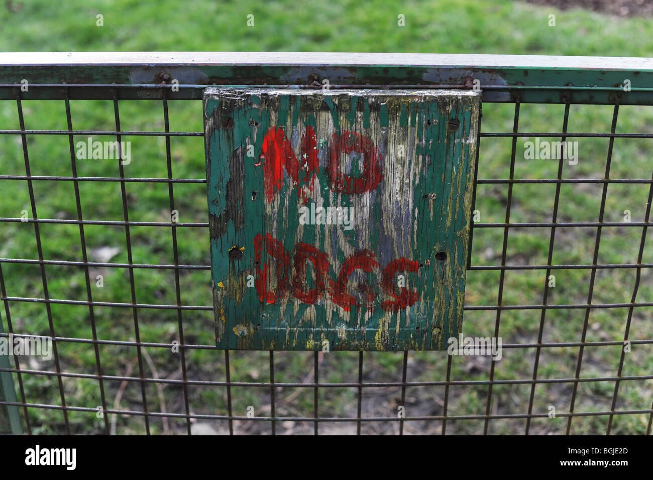 Ningún signo de perros Imagen De Stock