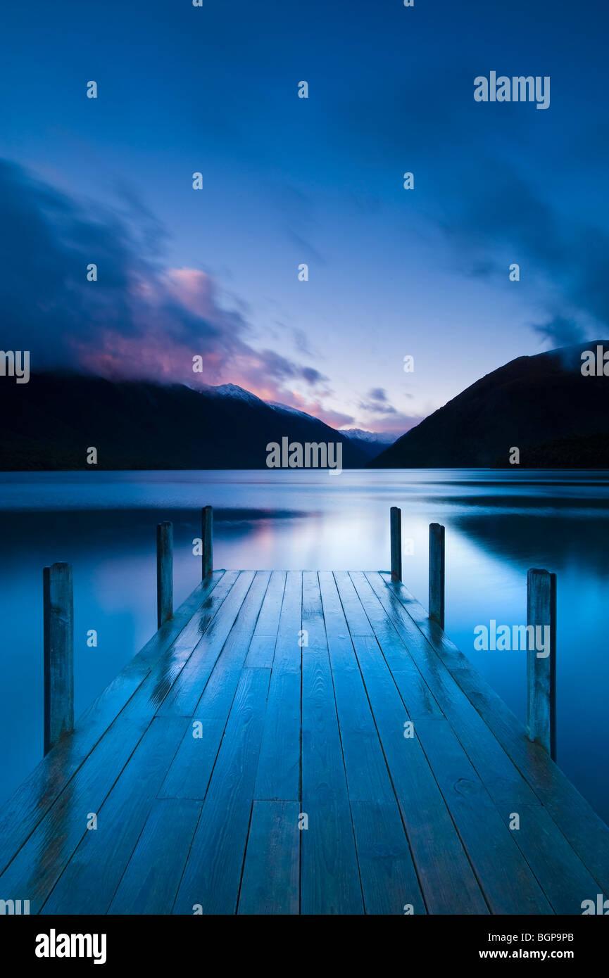El lago Rotoiti, Isla del Sur, Nueva Zelanda Imagen De Stock