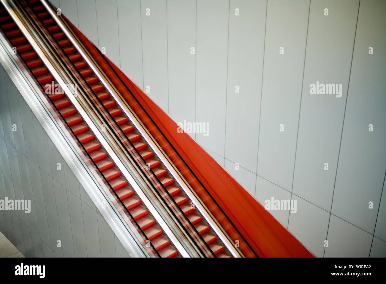 Escalera mecánica, Suecia. Imagen De Stock