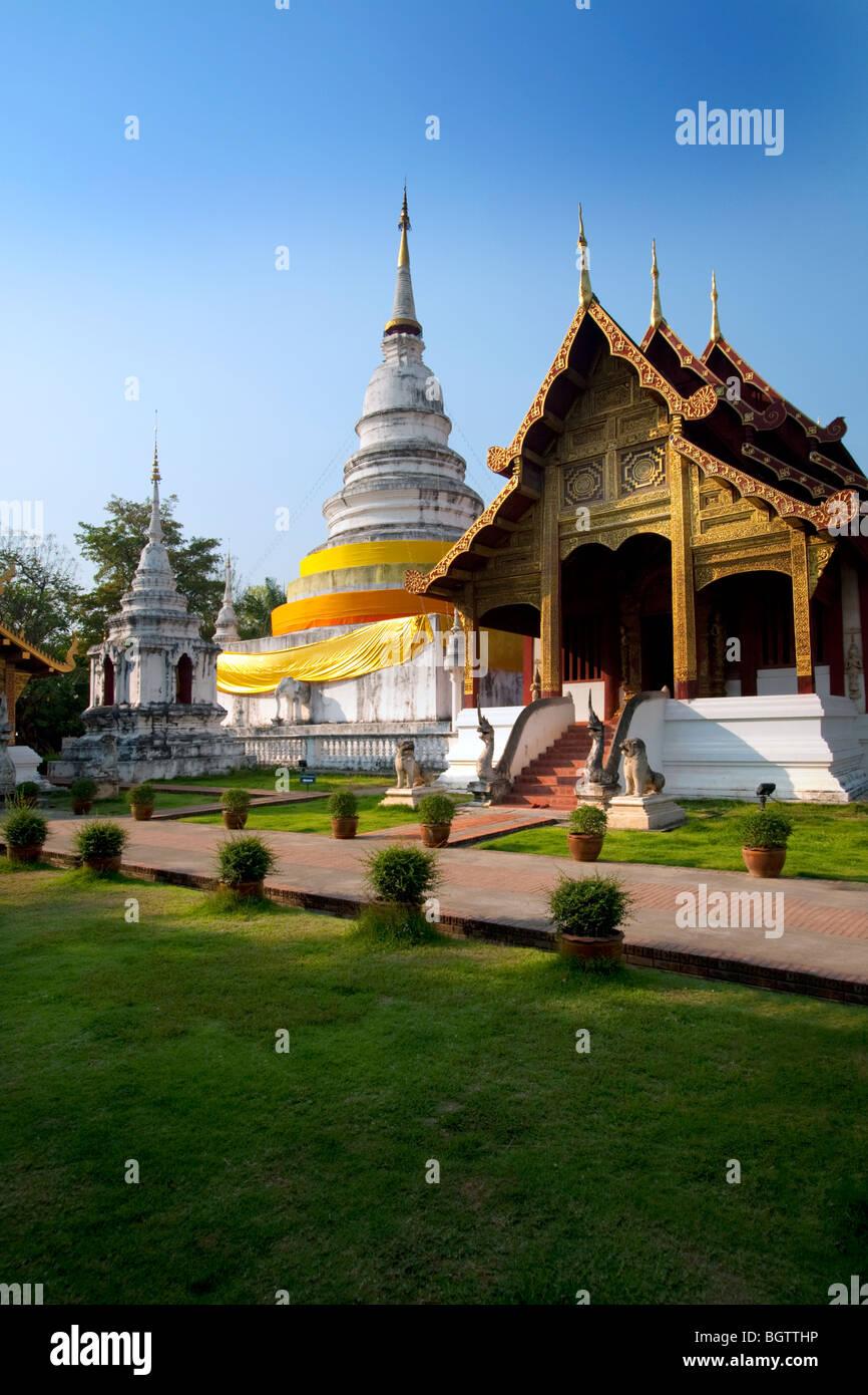 Wat Phra Singh, Chiang Mai, Tailandia Foto de stock