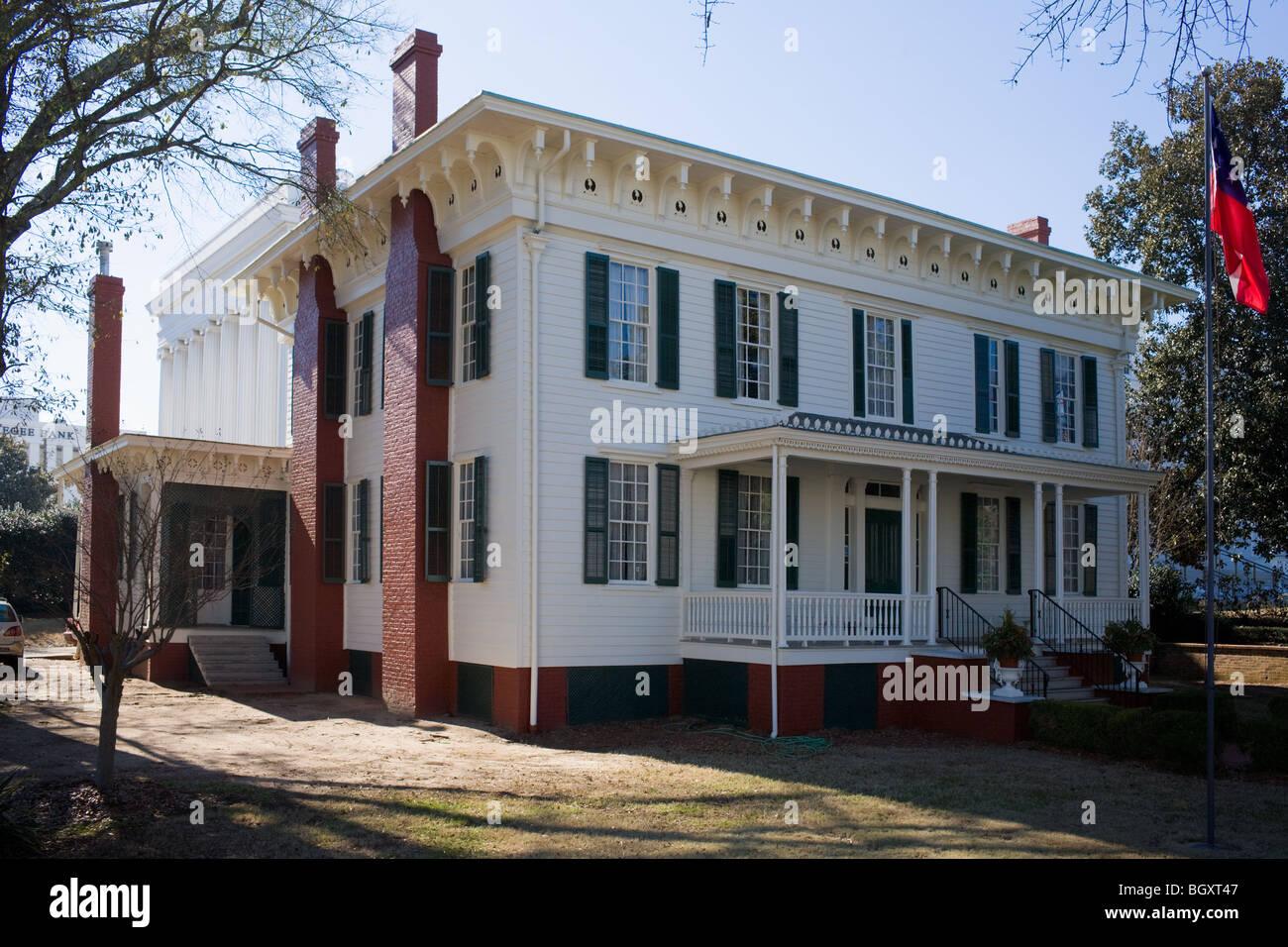 Primera Casa Blanca de la Confederación, Montgomery, Alabama Foto de stock
