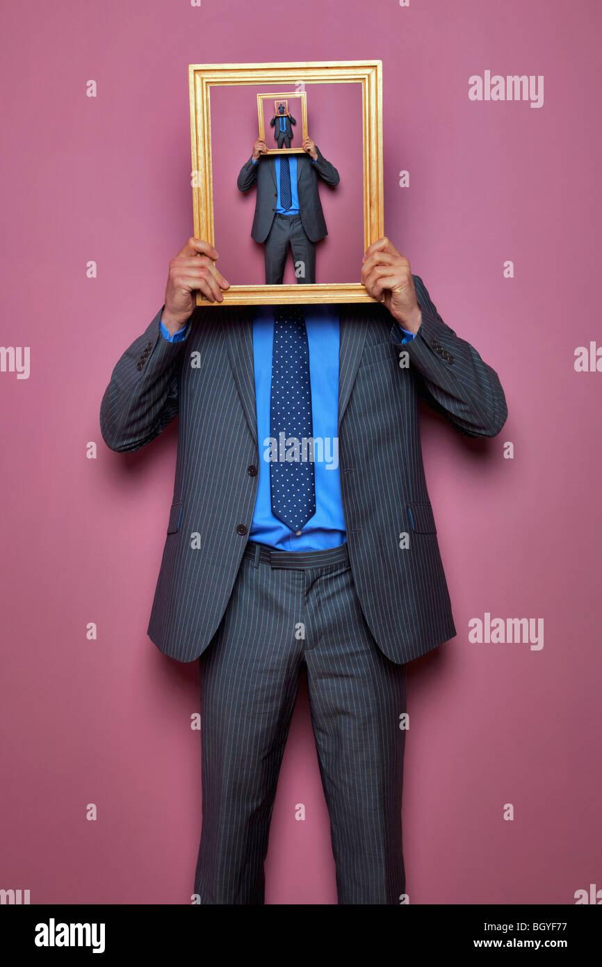 Hombre sin rostro Imagen De Stock