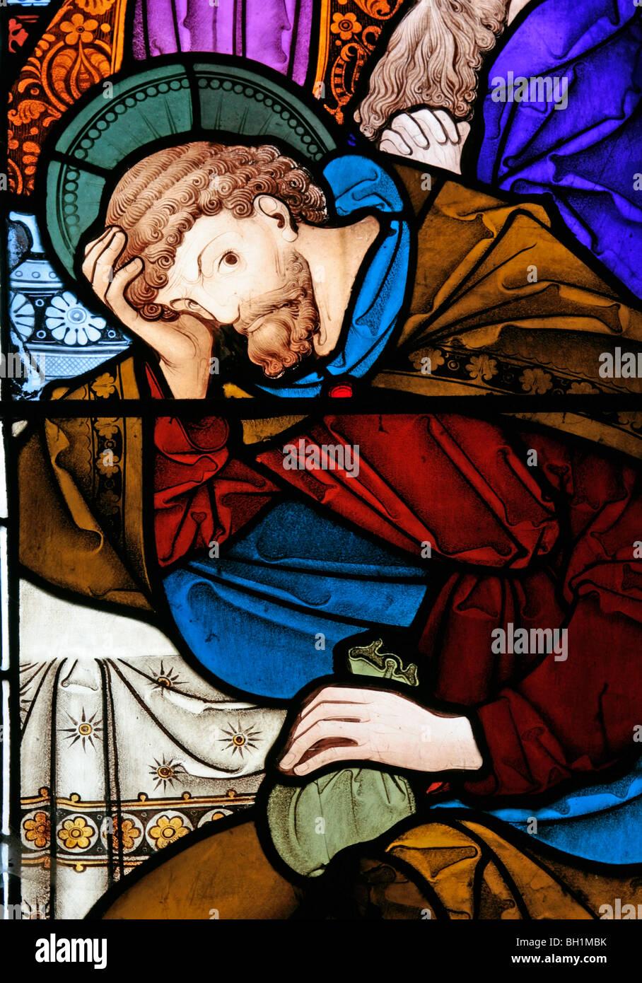Una Vidriera Representando A Judas Iscariote En La última Cena La Iglesia De Todos Los Santos Allesley Coventry Fotografía De Stock Alamy