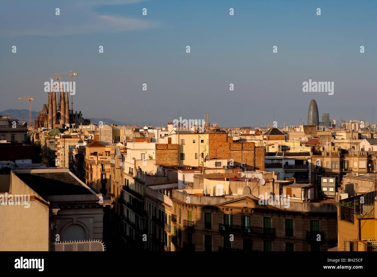 Barcelona Vista Desde La Terraza De La Casa Milá O La