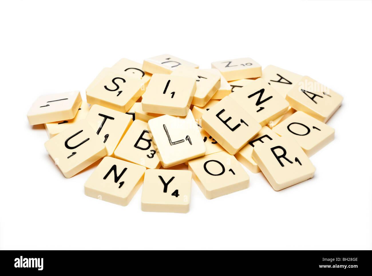 Fichas de Scrabble Imagen De Stock