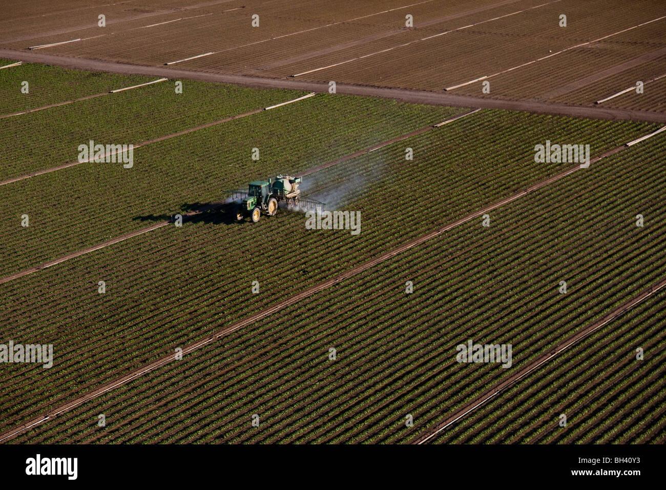 Fertilización de cultivos, el sur de la Florida, la agricultura Imagen De Stock