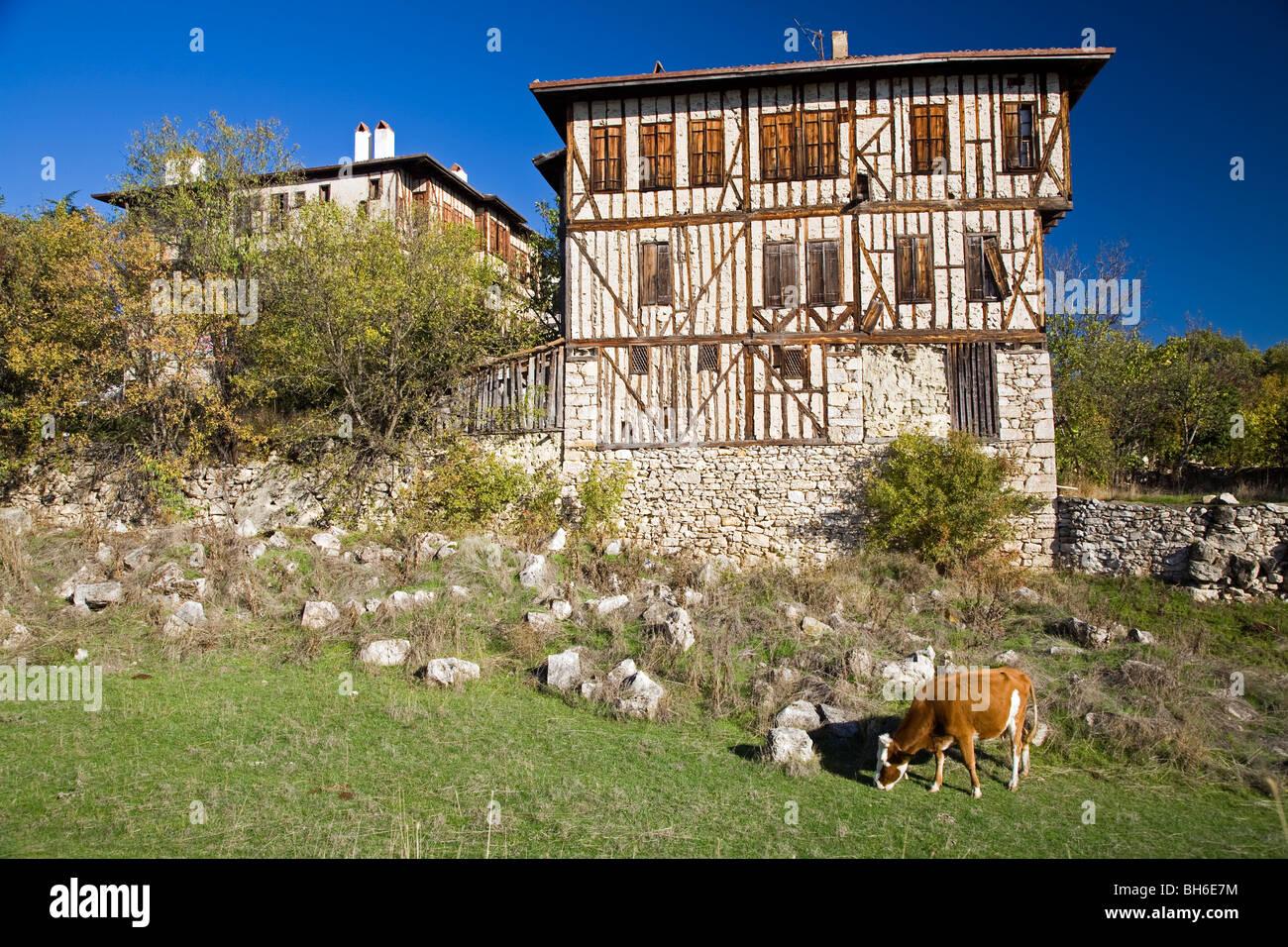 Detalles arquitectónicos de Safranbolu Turquía casas Imagen De Stock