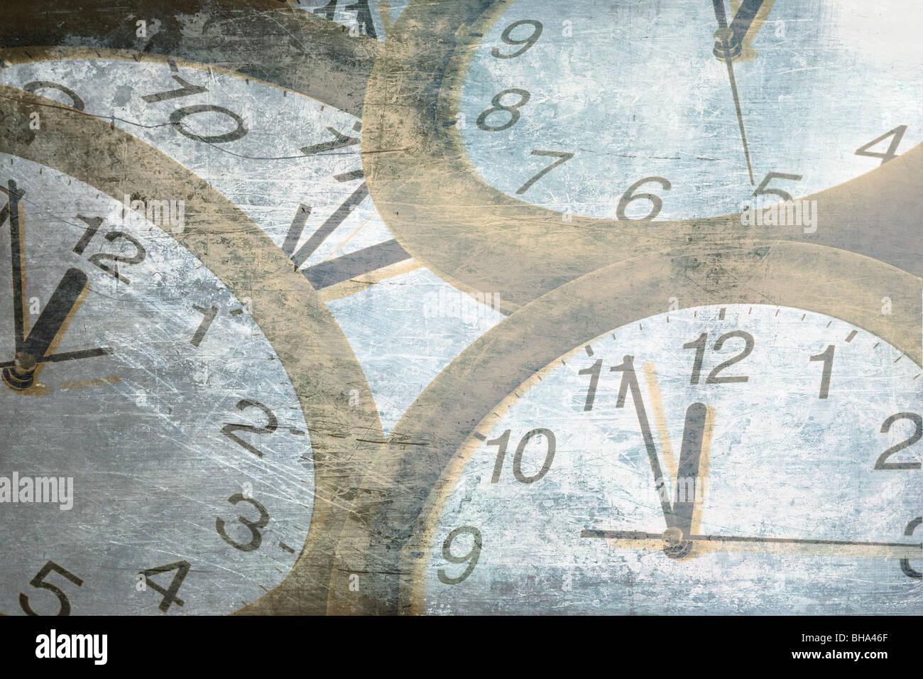 Tiempo abstracto concepto antiguo reloj . Imagen De Stock