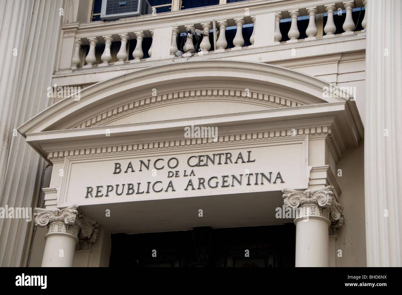 Buenos Aires Banco Central de Argentina Banco Central de la República Argentina Foto de stock