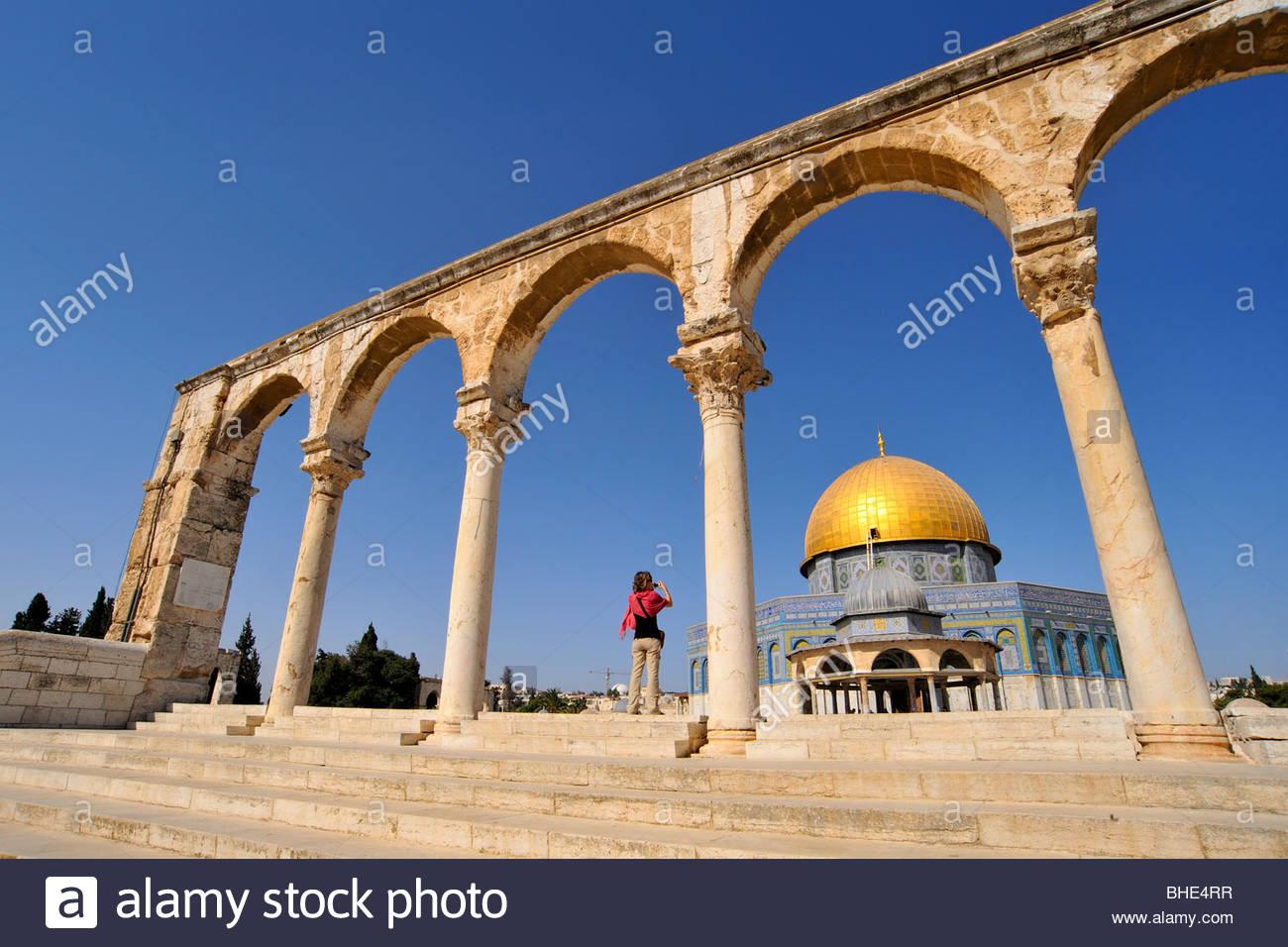 La cúpula de la roca, el Monte del Templo, el noble santuario, Jerusalem, Israel Imagen De Stock