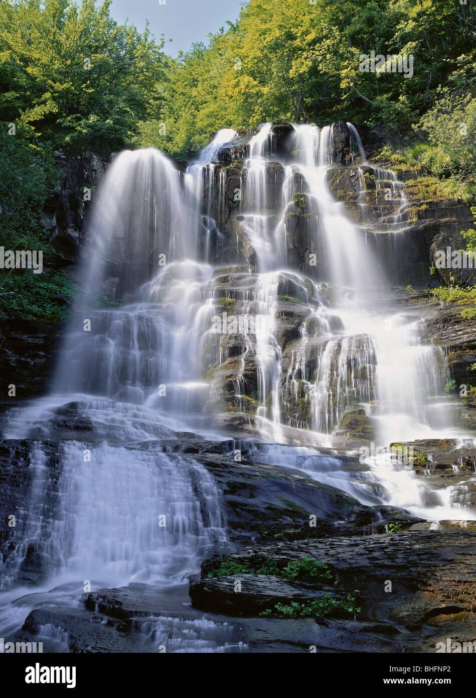 Geografía / viajes, Italia, Toscana, paisajes Doccione Falls, cerca Fellicarolo, Additional-Rights-Clearance Imagen De Stock