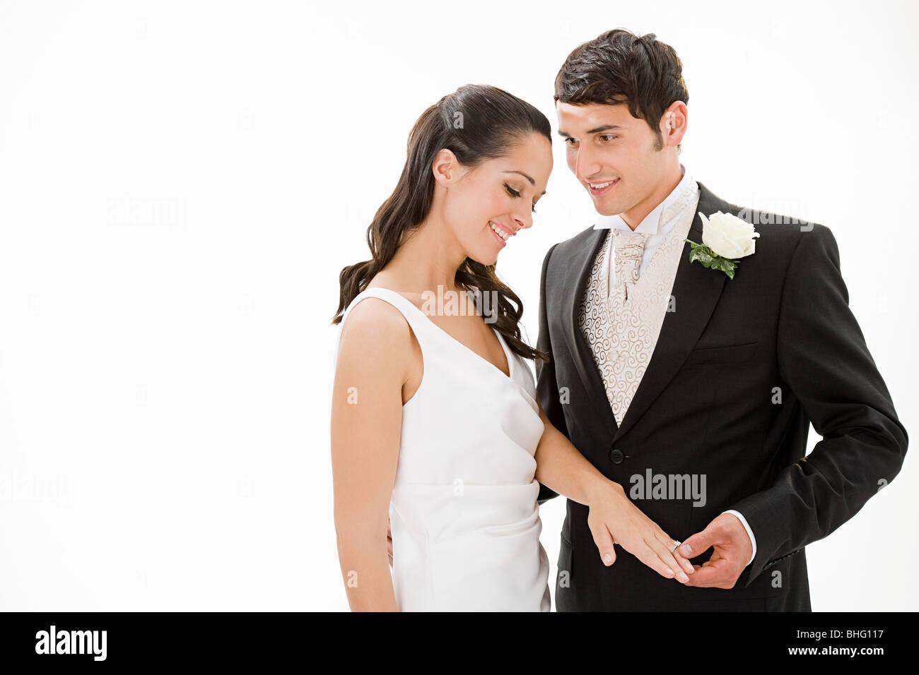 El retrato de la novia y el novio Foto de stock