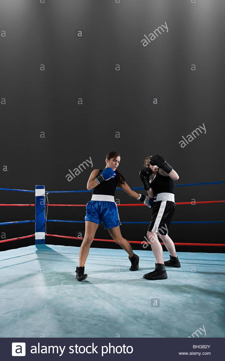 Combate de boxeo Imagen De Stock