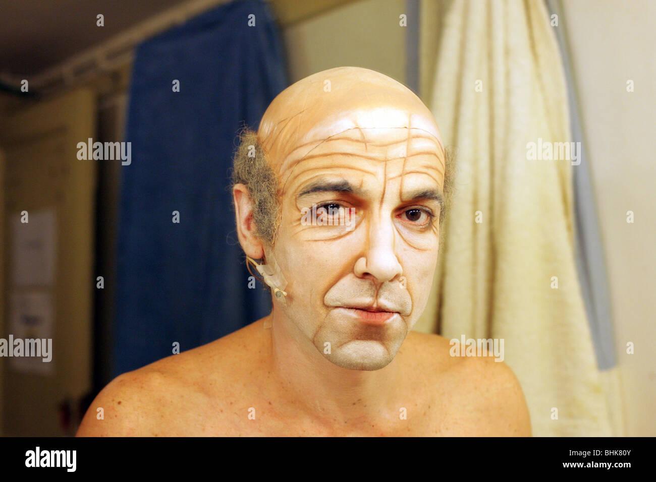 Retrato de actor con maquillaje. Imagen De Stock