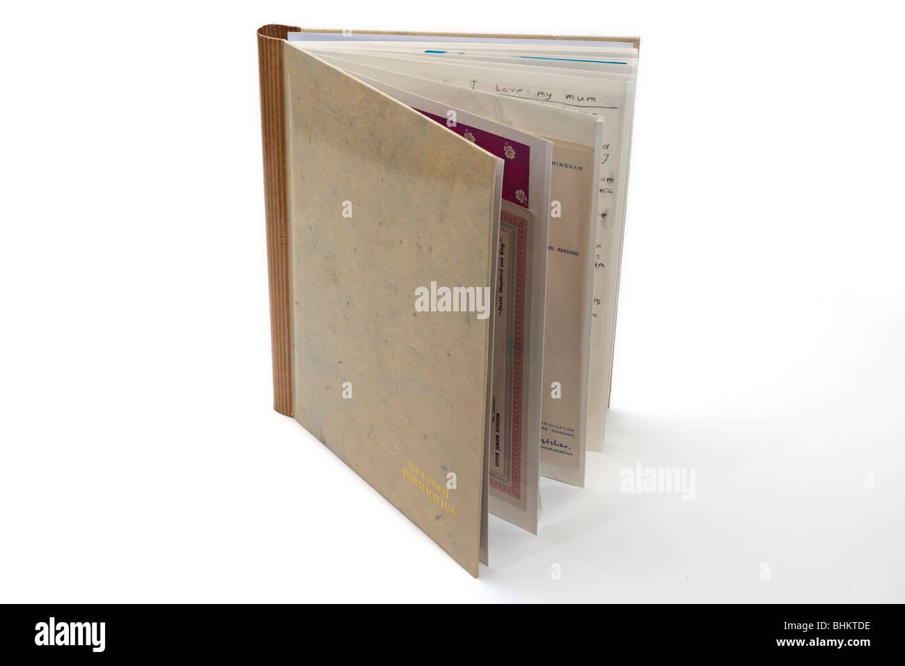 Libro de recuerdos Foto de stock