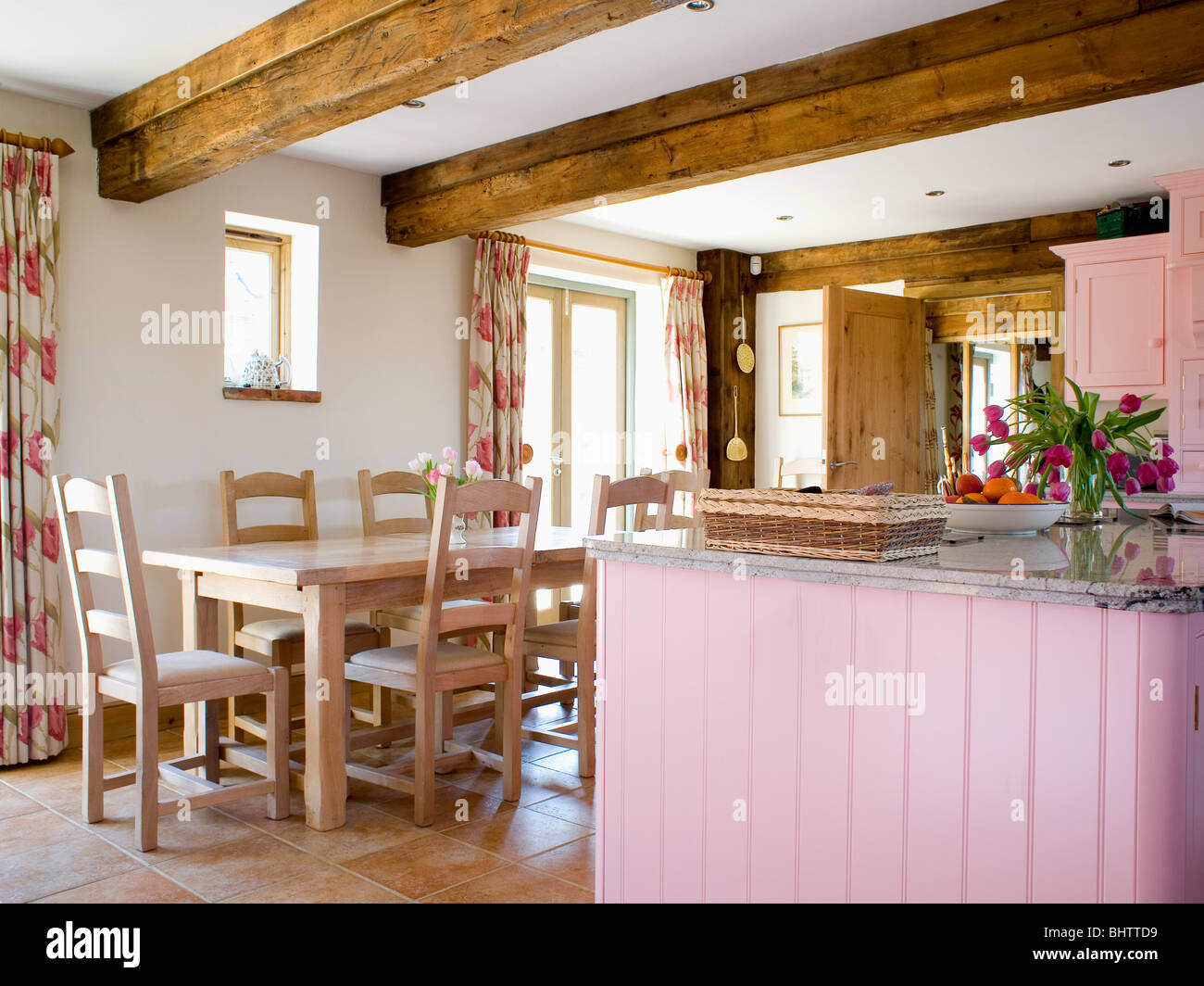 Interiors Traditional Kitchens Dining Rooms Imágenes De Stock ...