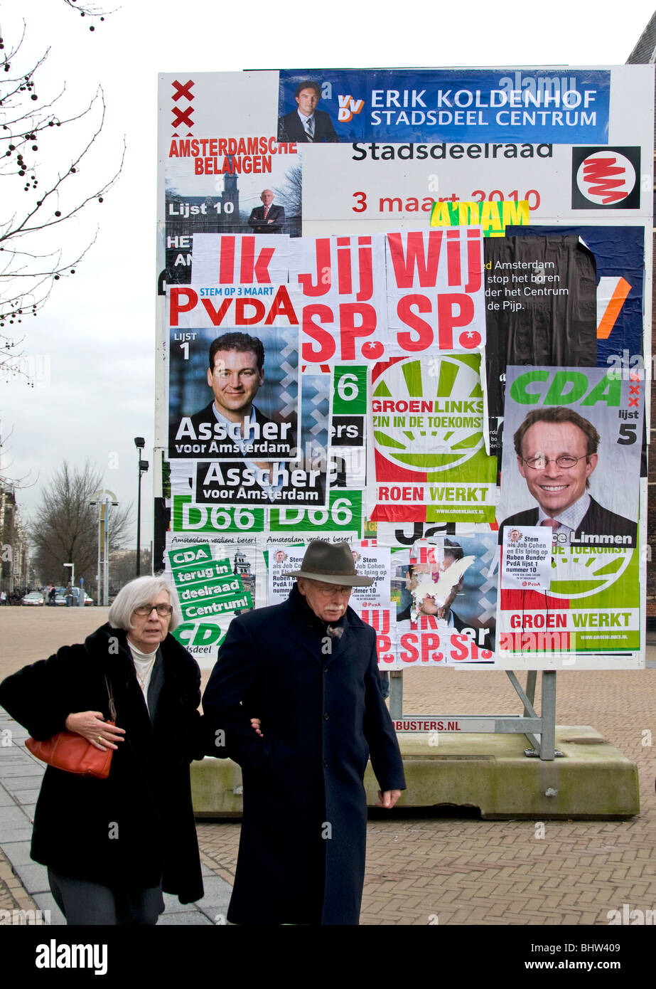 Amsterdam Holanda Holanda candidato político electoral encuestas Imagen De Stock