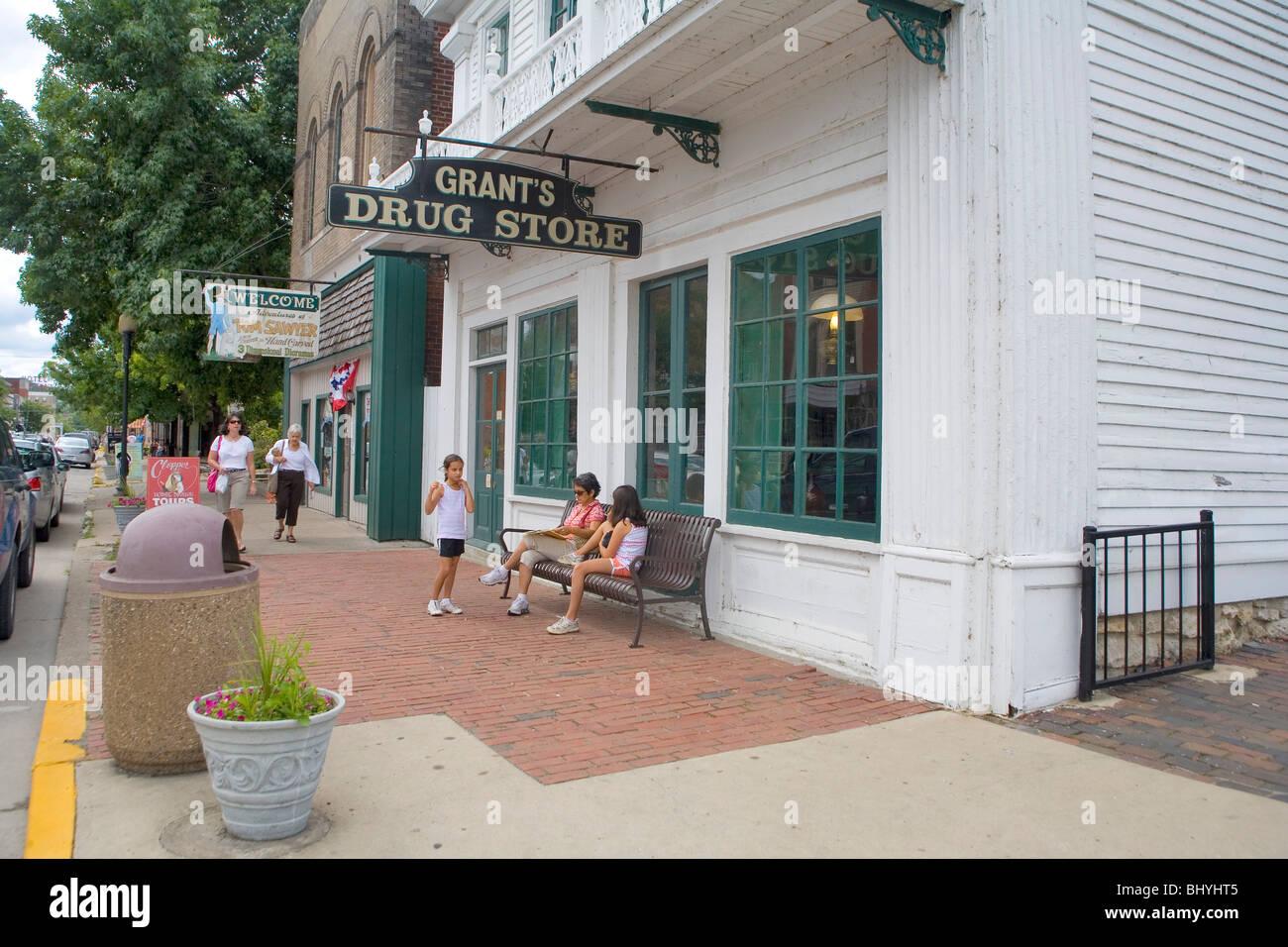 Grant's Drug Store - Casa de la Pilastra Imagen De Stock