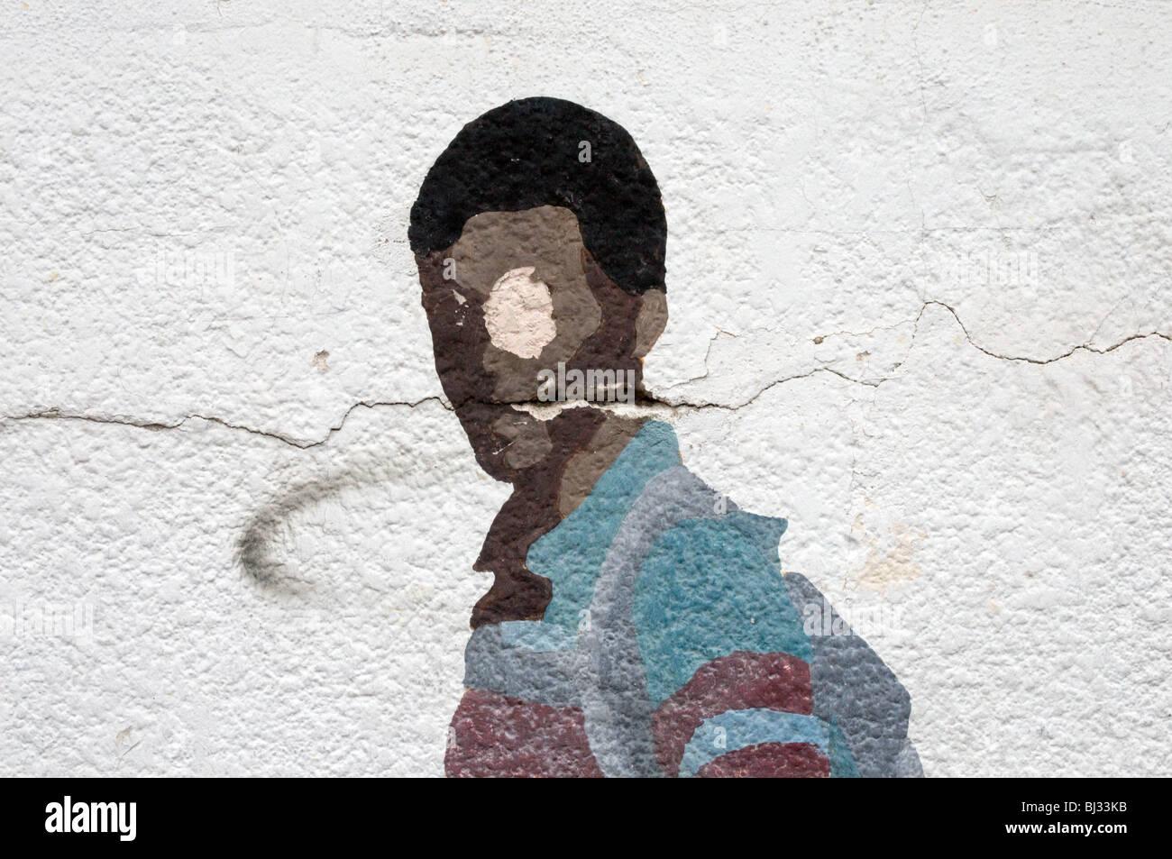 pintura de la pared Imagen De Stock
