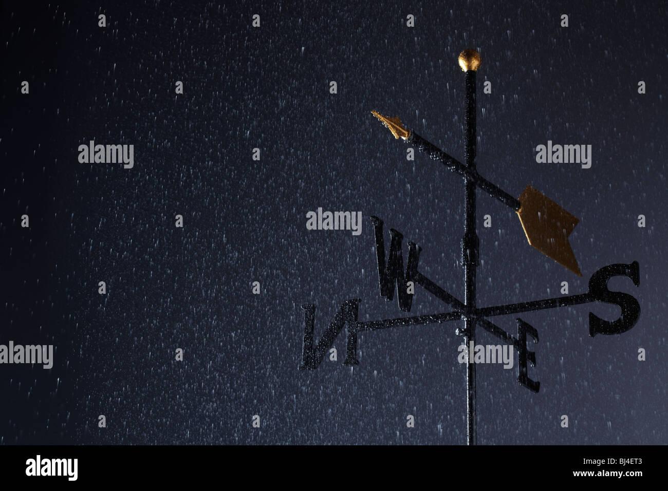 La veleta en forma de lluvia Imagen De Stock