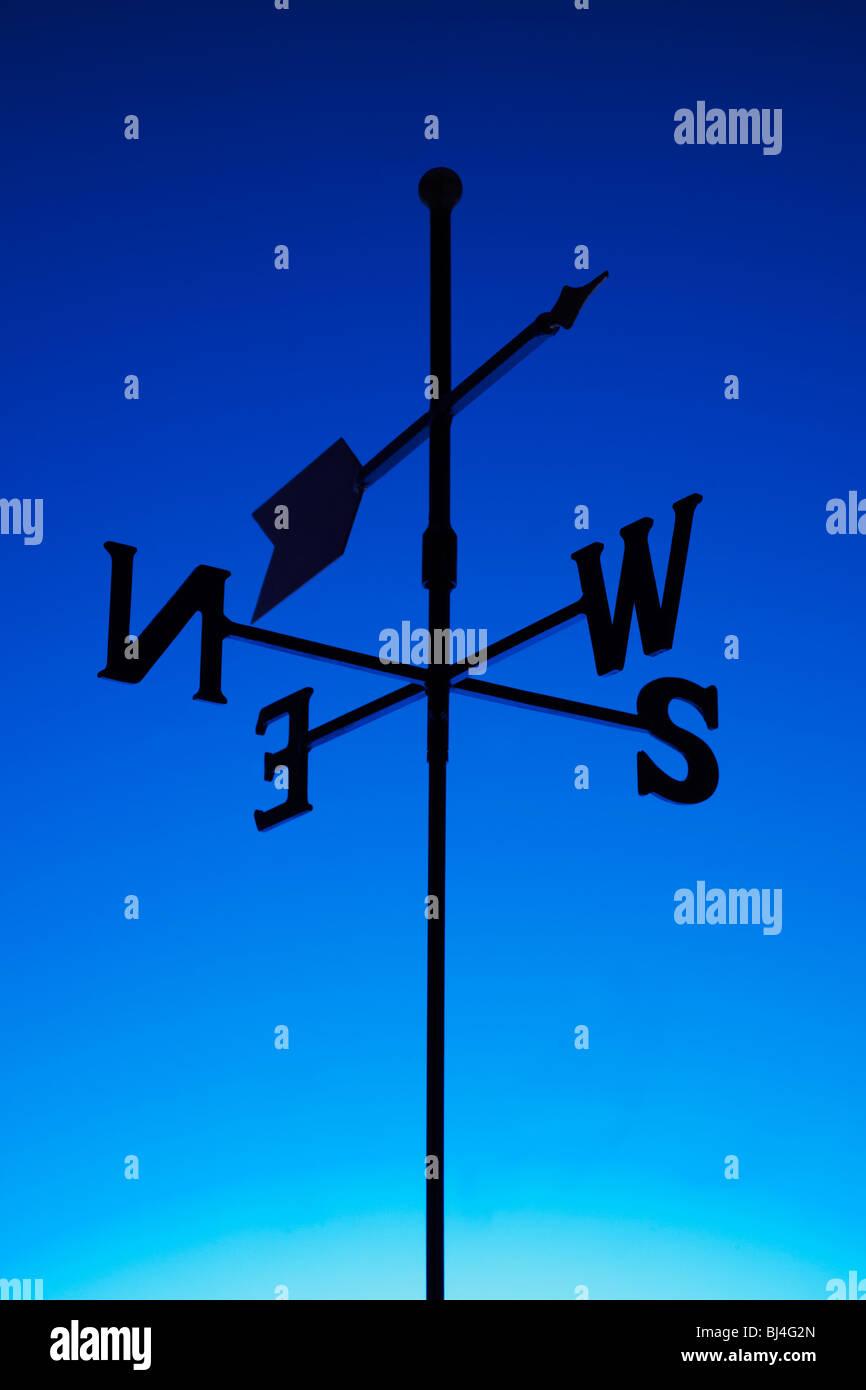 Veleta con cielo azul Imagen De Stock