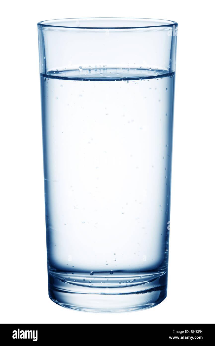Vaso de mesa de agua. Imagen De Stock