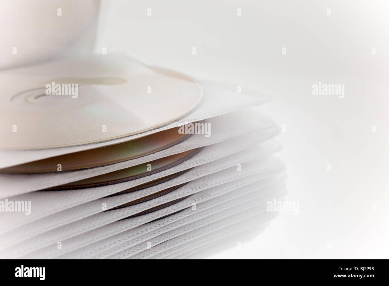 Carcasa de plástico con closeup archivos de disco. Foto de stock