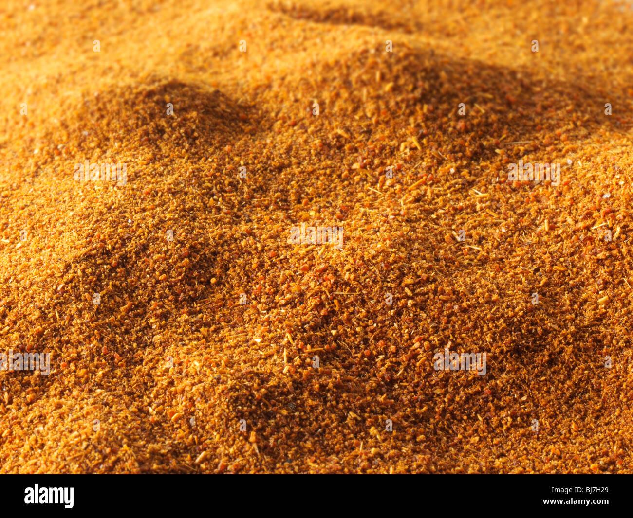 Tierra de chili en polvo , cerrar full frame Foto de stock