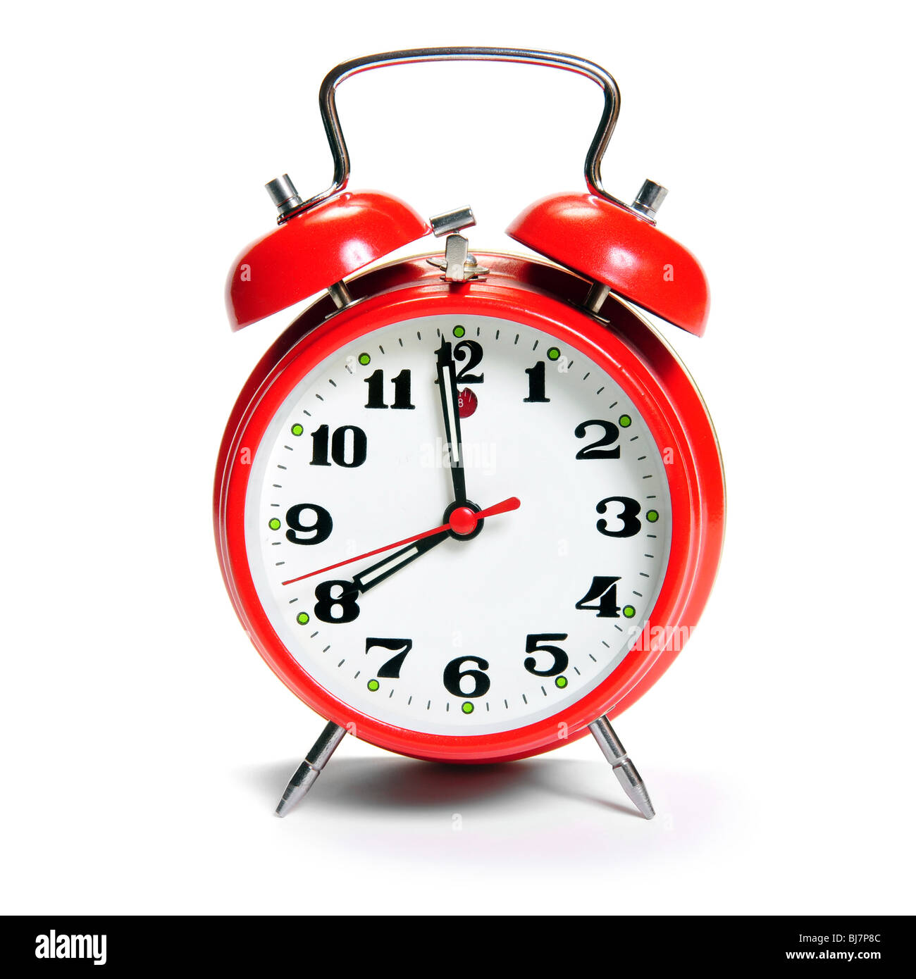 Antiguo reloj despertador moda aislado en blanco Imagen De Stock