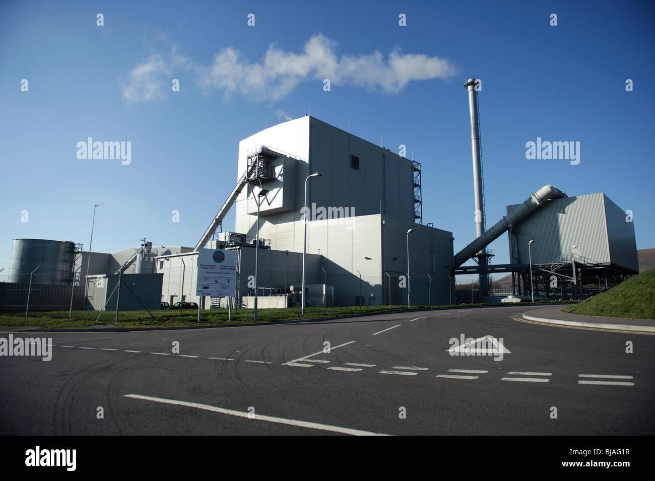 La planta de energía de biomasa de madera occidental, Margam , South Wales UK Imagen De Stock