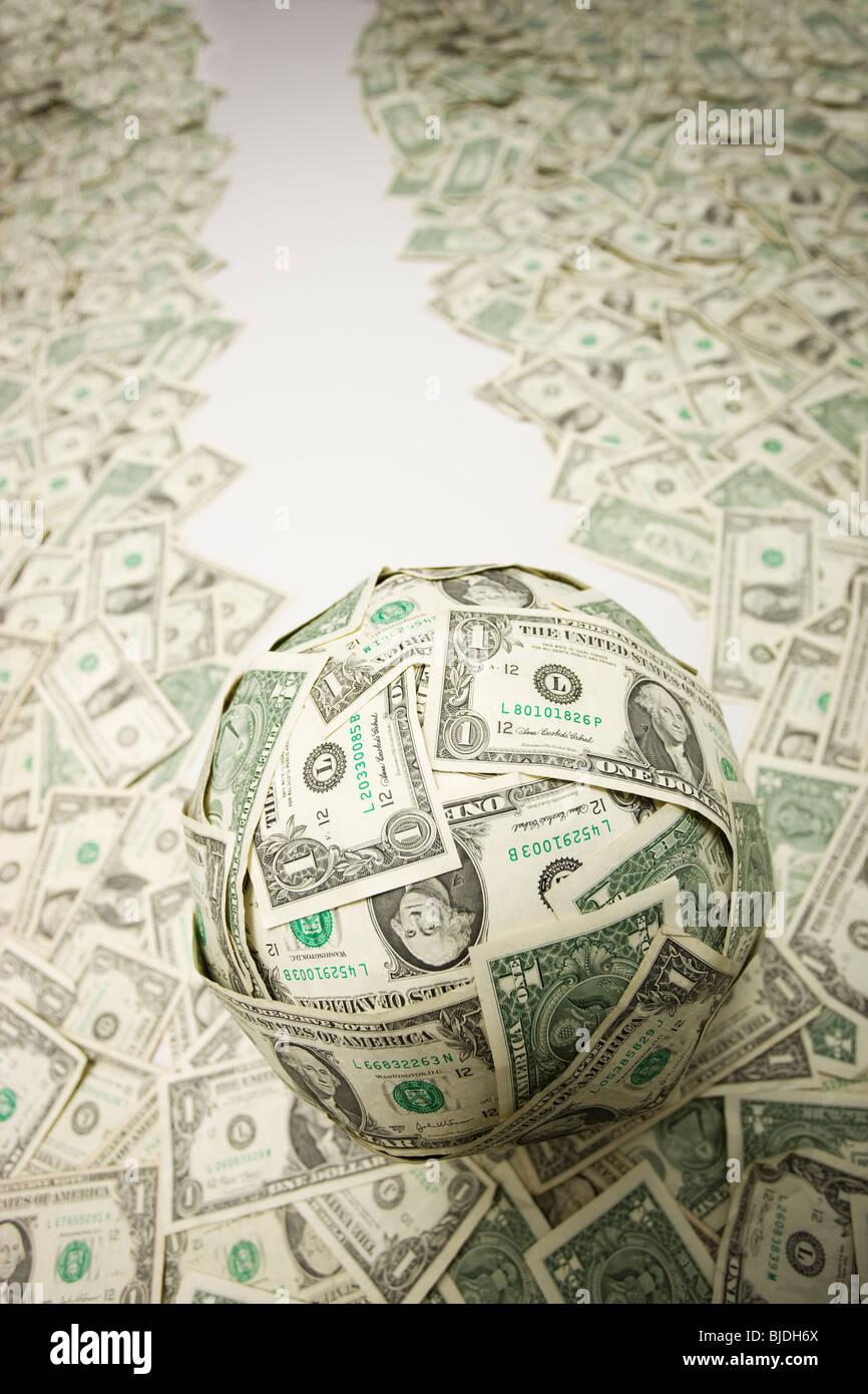 bola de dinero Imagen De Stock