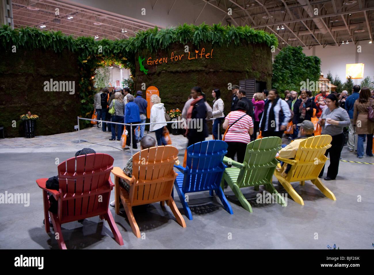 Colorido patio silla de paseo relax comfort Imagen De Stock
