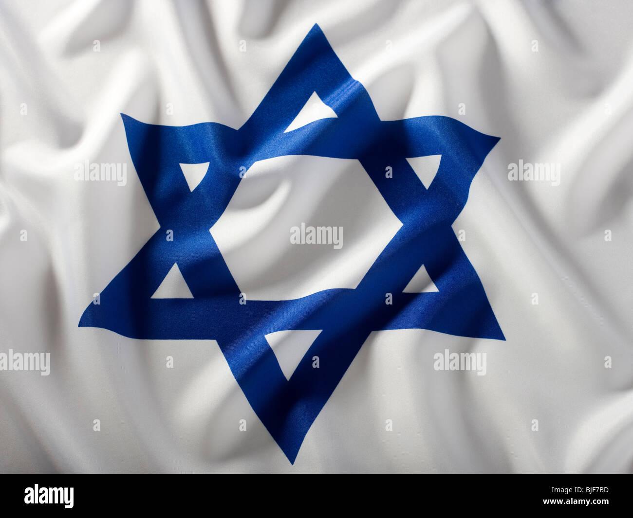 Bandera de Israel Imagen De Stock