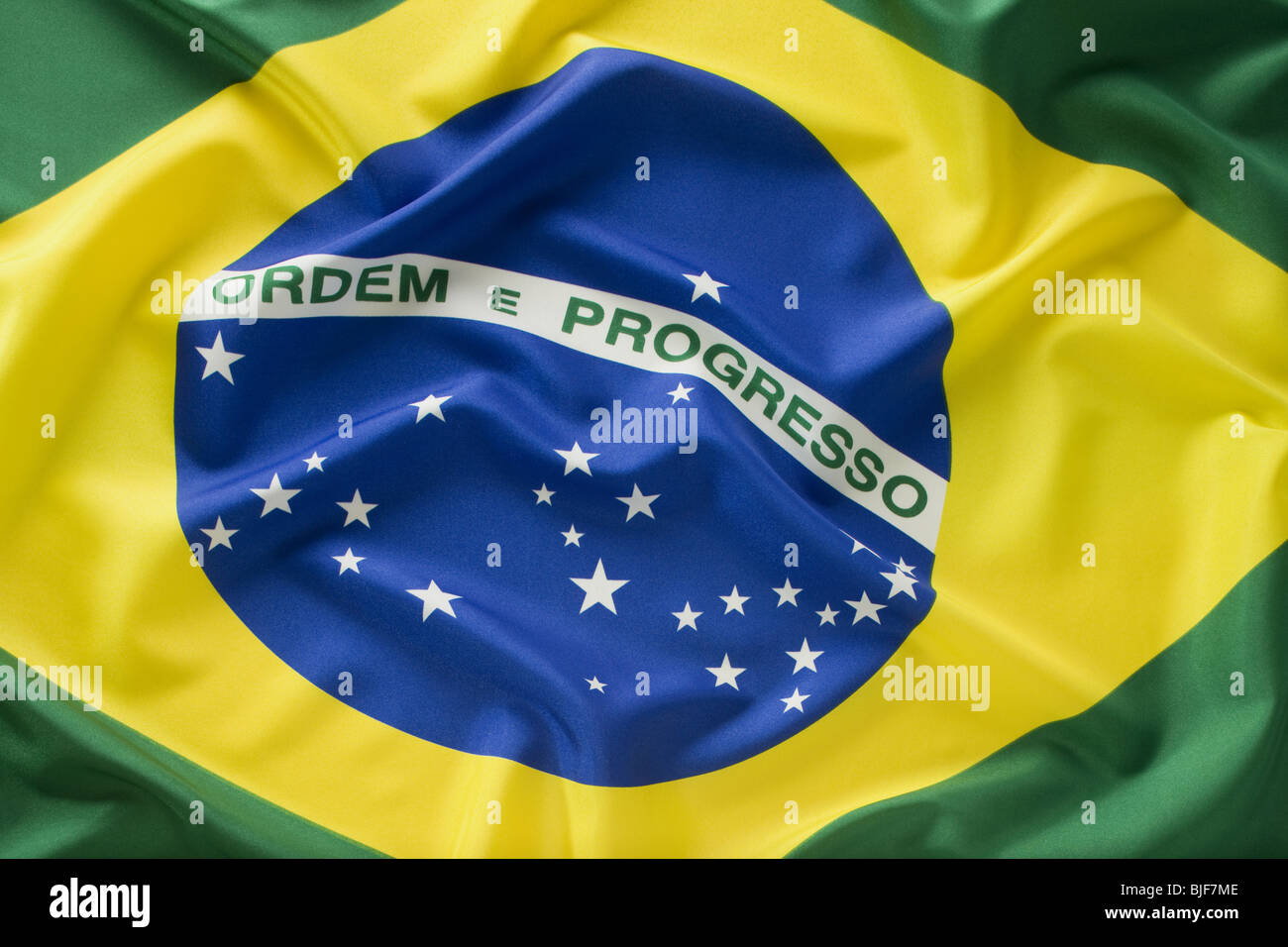 Bandera de Brasil Imagen De Stock