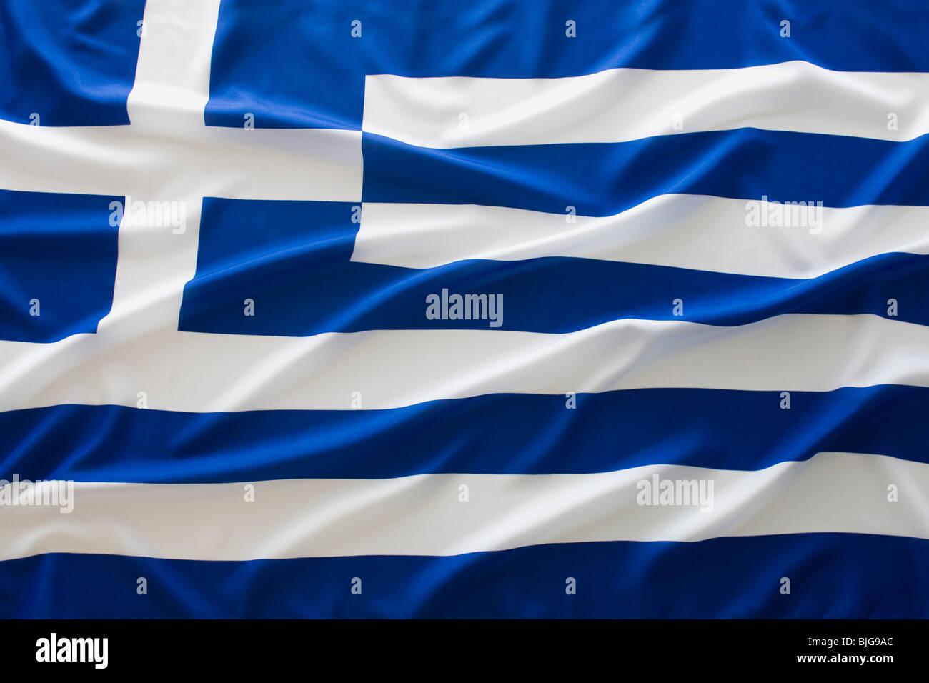bandera griega Imagen De Stock