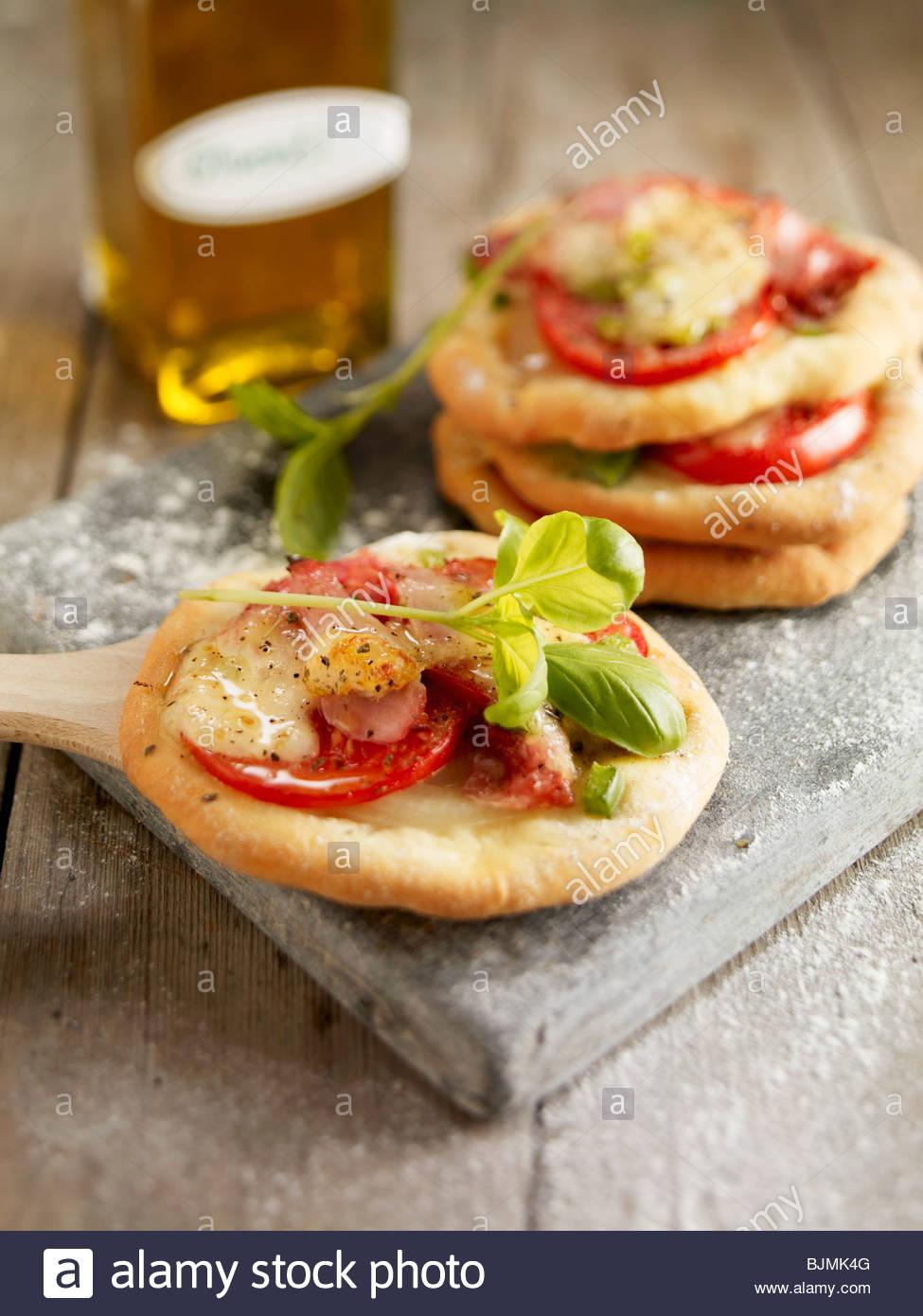 Mini pizzas Imagen De Stock