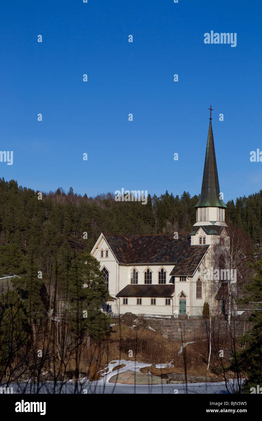Iglesia Skotfoss, Skien, Telemark, Noruega Foto de stock