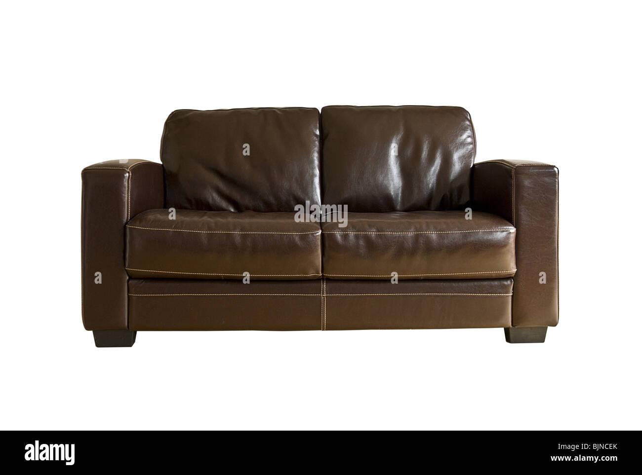 Sofá de cuero Imagen De Stock