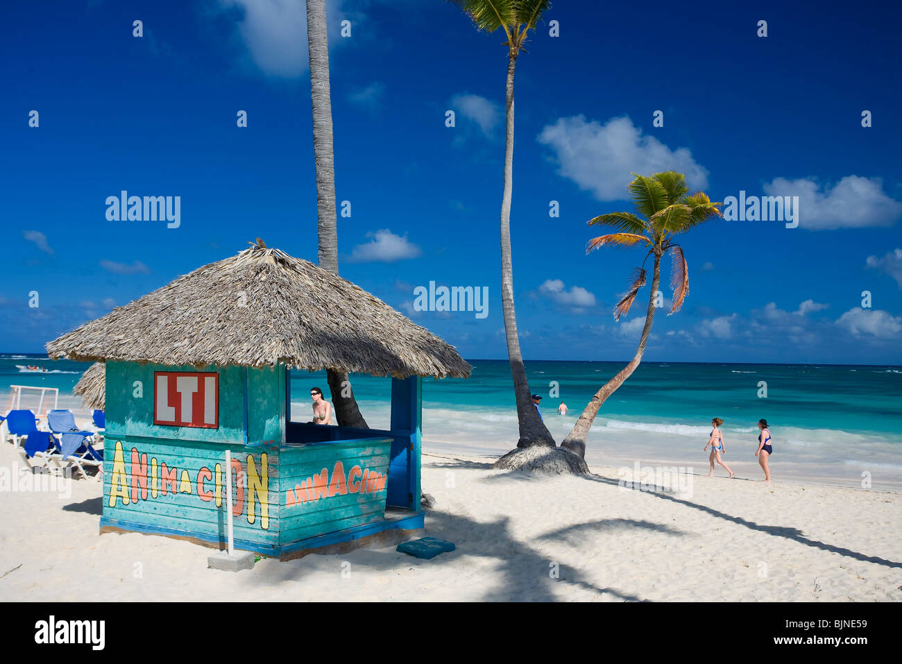 Playa Bávaro, Punta Cana, República Dominicana Imagen De Stock