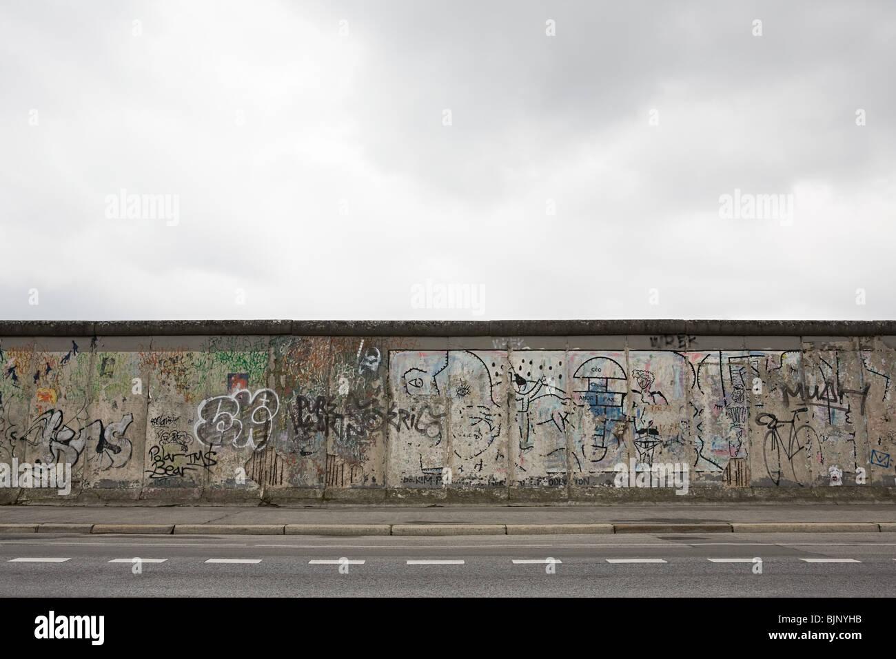 Tramo restante del muro de Berlín Imagen De Stock