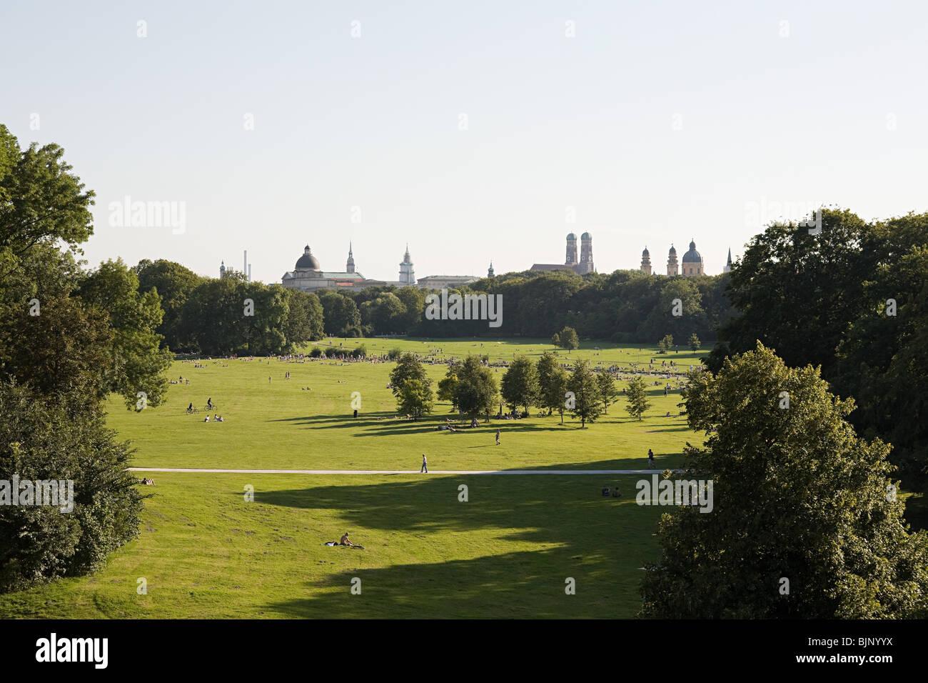 Jardín Inglés de Múnich Imagen De Stock