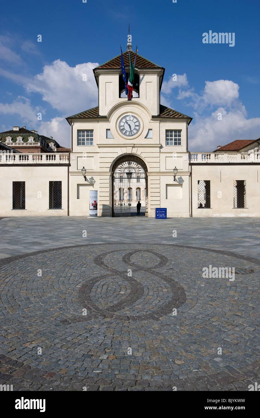 Italia, Piemonte, Turín, Torino, Reggia Venaria Reale, entrada Foto de stock