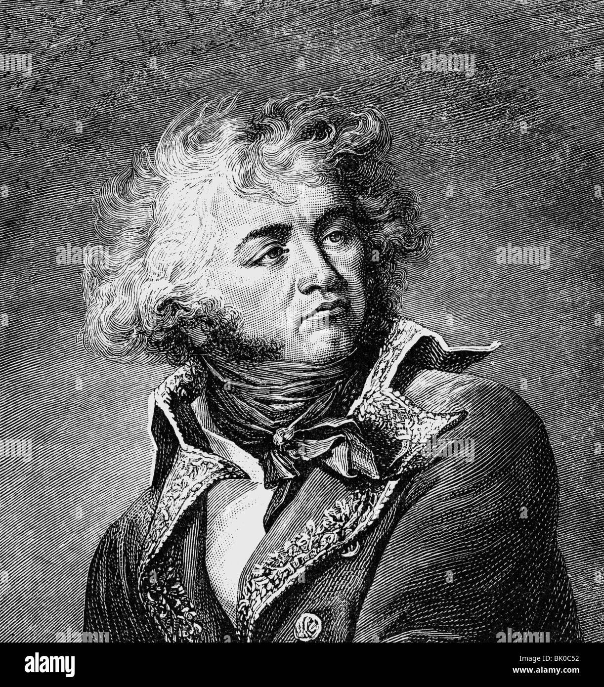 Kléber, Jean Baptiste, 9.3.1753 - 14.6.1800, general francés, retrato, grabado en madera después Imagen De Stock