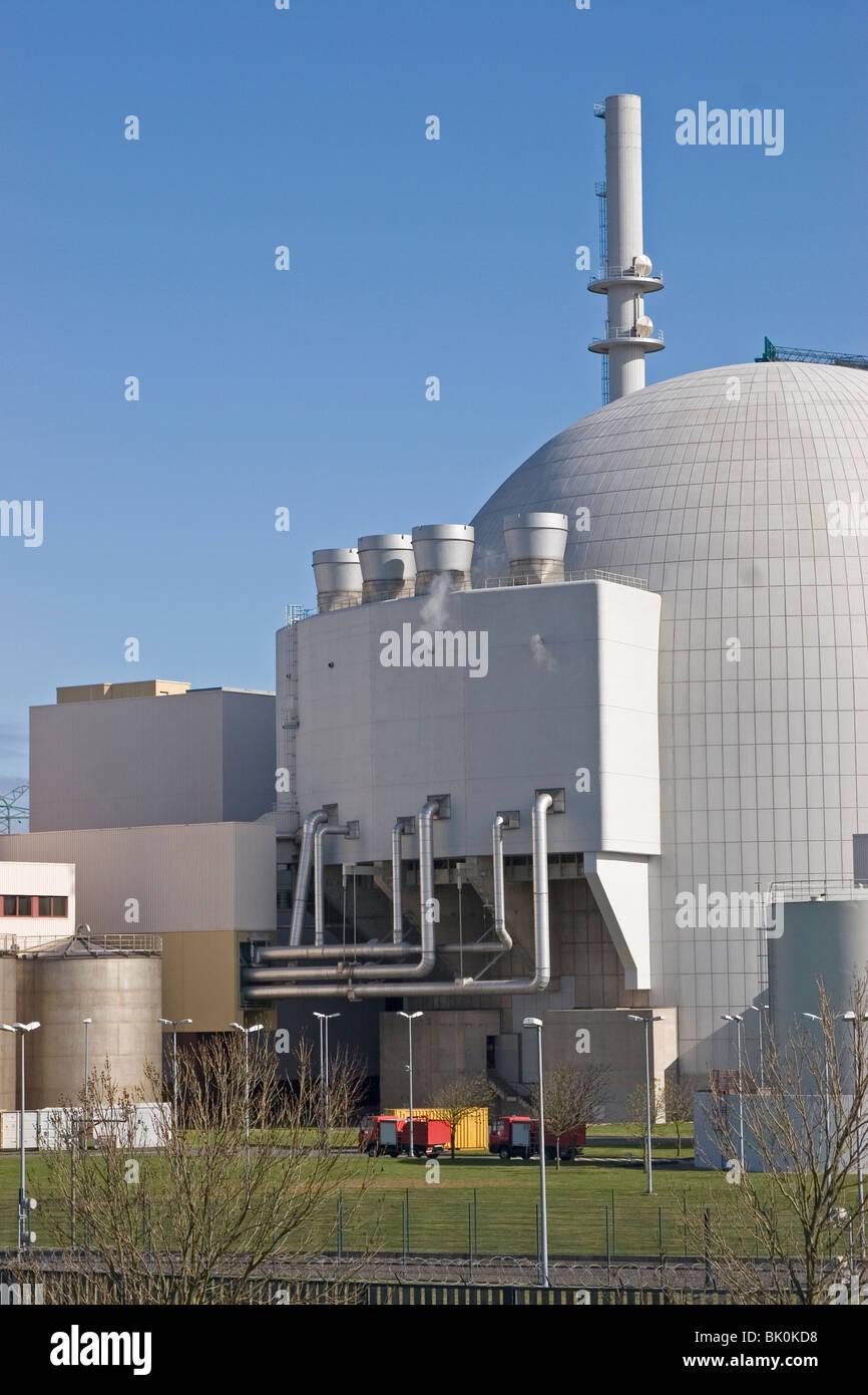 Reactores nucleares de potencia Foto de stock